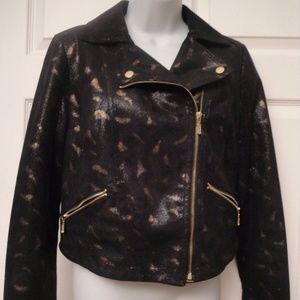 ROCK & REPUBLIC Motorcycle Black/Gold Jacket M
